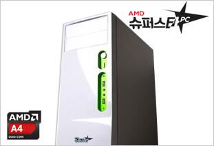[AMD] 슈퍼스타PC NO.1 화이트 [인터넷사무용/A4 7300/4G/60G/8470D]