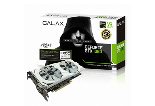 [갤럭시] GALAX 지포스 GTX1060 EXOC 개간지 D5 6GB + GAMER 3 DDR4 16G PC4-19200 RGB (8*2)