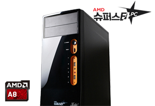 [AMD] 슈퍼스타PC NO.2 블랙 [멀티미디어용/A8 7600/4G/120G/R7]